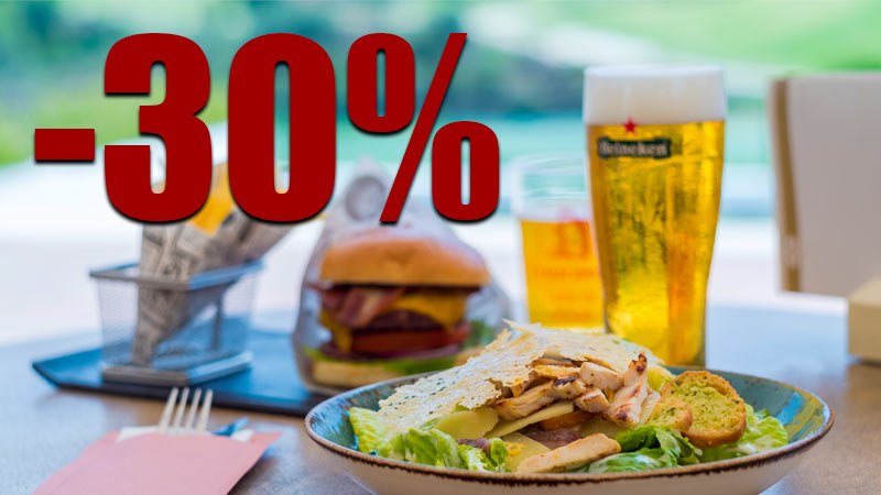 30% Discount on Food and Drinks